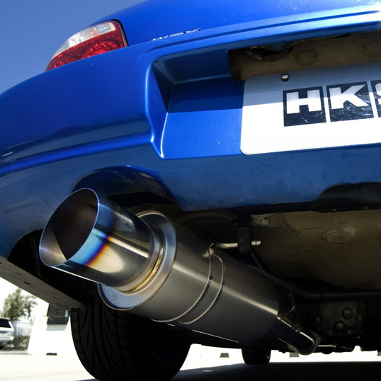 02 07 Wrx Amp Sti Hks Titanium Catback Exhaust Big Red S